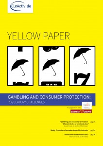 "Titelseite: YellowPaper ""Gambling and Consumer Protection"""